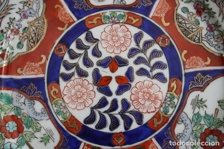 Antigüedades: plato de imari, porcelana japonesa antigua - Foto 2 - 98073219