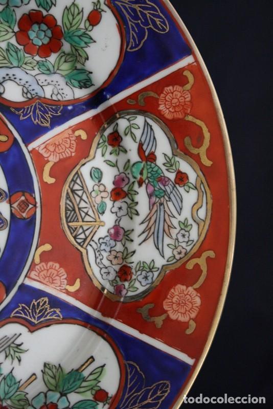 Antigüedades: plato de imari, porcelana japonesa antigua - Foto 4 - 98073219