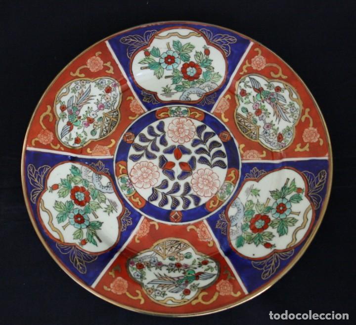 Antigüedades: plato de imari, porcelana japonesa antigua - Foto 6 - 98073219