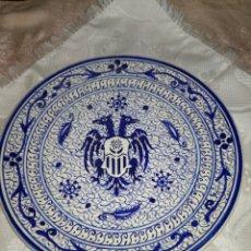 Antigüedades: PLATO AGUILA BICÉFALA MANISES. Lote 98098248