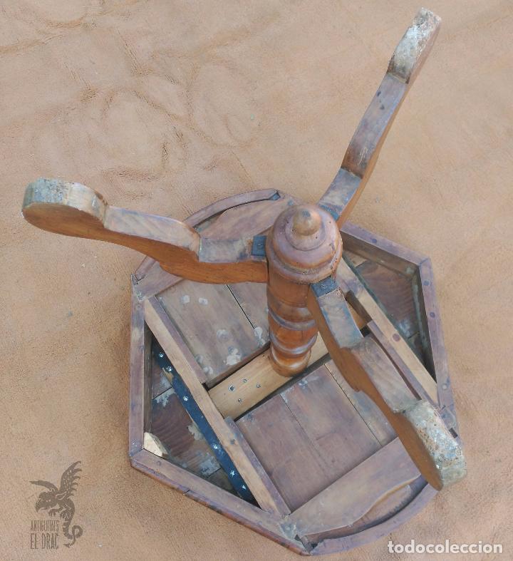 Antigüedades: MESA DE JUEGO NOGAL - Foto 4 - 9379598