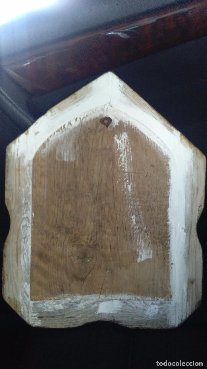 Antigüedades: ICONO RELIGIOSO JesuS cristo PINTURA OLEO en madera - Foto 2 - 98117507