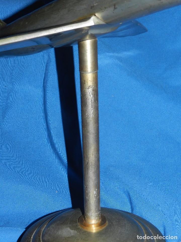 Antigüedades: (M) AVION ART DECO , AÑOS 30 /40 METALICO 37 X 445 X 40 CM, ORIGINAL , NO COPIA - Foto 4 - 98120071