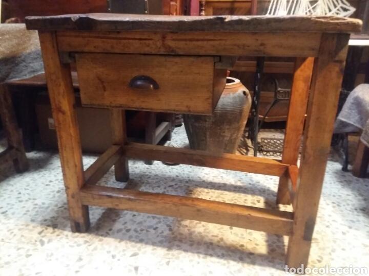 Antigüedades: Mueble rústico antiguo de tienda - Foto 7 - 98127071