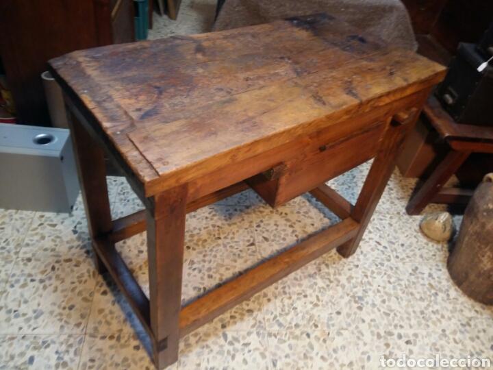 Antigüedades: Mueble rústico antiguo de tienda - Foto 8 - 98127071