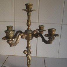 Antigüedades: CANDELABRO FRANCÉS DE BRONCE CON 5 LUCES ESTILO BELLE EPOQUE. Lote 98158671