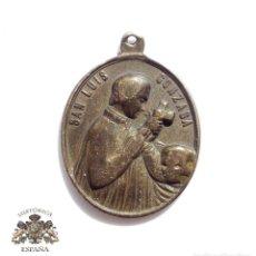 Antigüedades: MEDALLA SAN LUIS GONZACA DETRAS PATRIA SAINE LABE CONCEPTA ORA PRO. Lote 98164903