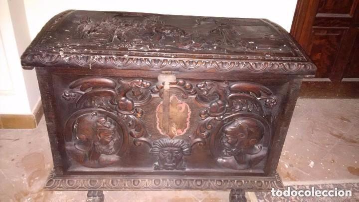 ARCA DE CEDRO ANTIGUA (Antigüedades - Muebles Antiguos - Baúles Antiguos)