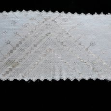 Antigüedades: ORIGINAL PIEZA DE TUL BORDADO EN PLATA . Lote 98170842