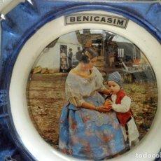 Antigüedades: CENICERO DE PORCELANA BENICASIM. Lote 98173031