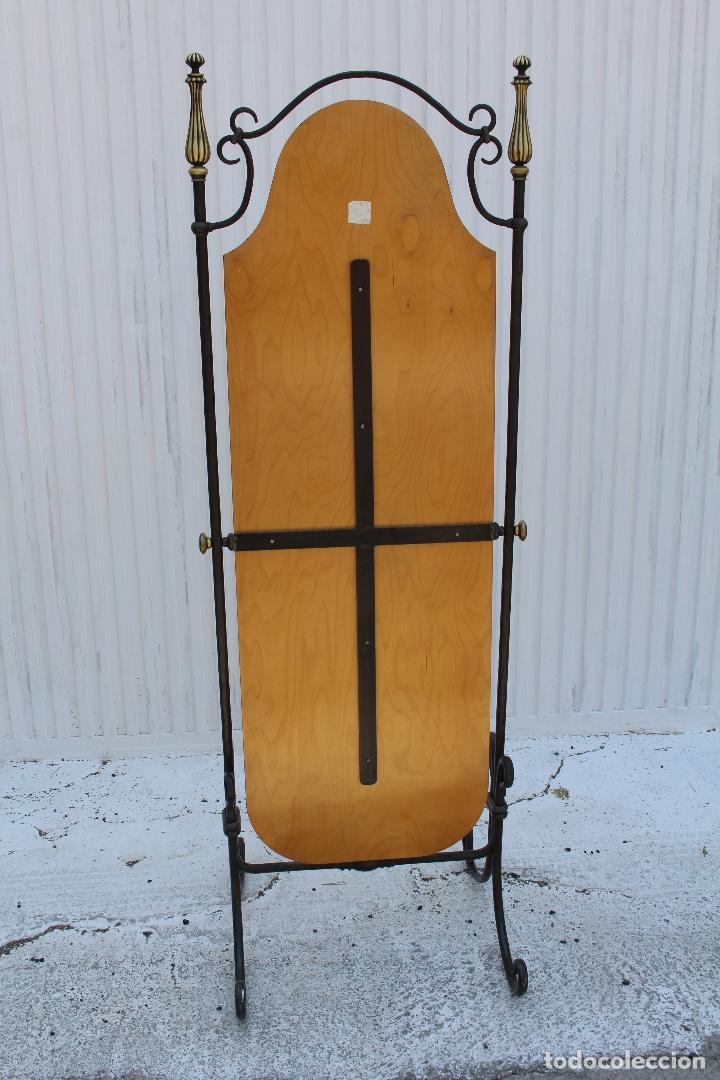 Antigüedades: espejo de pie en hierro de forja - Foto 2 - 98177247