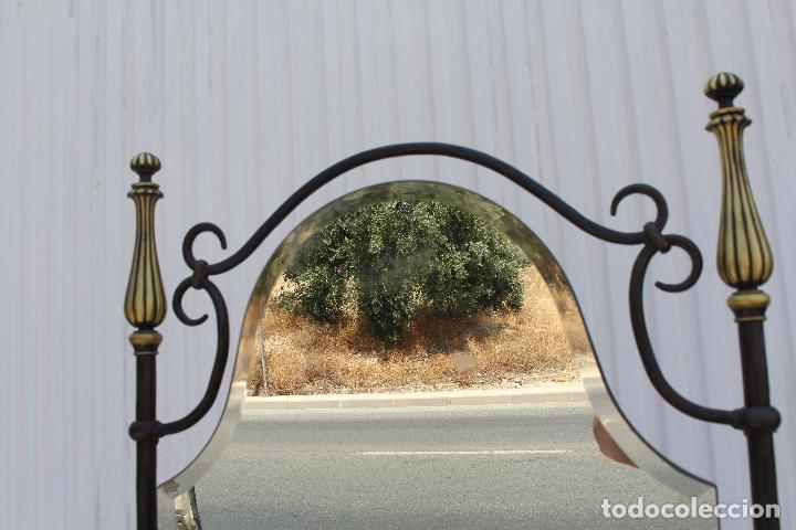 Antigüedades: espejo de pie en hierro de forja - Foto 3 - 98177247
