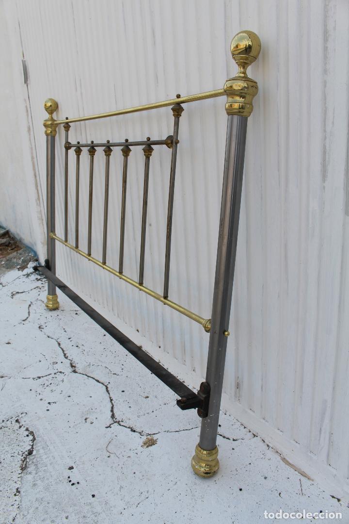 Antigüedades: cama en metal dorado - Foto 3 - 98177491