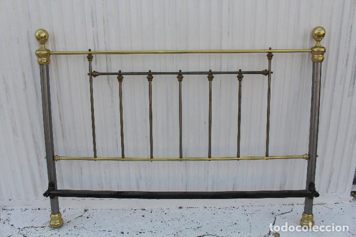 Antigüedades: cama en metal dorado - Foto 4 - 98177491