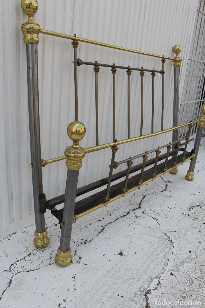 Antigüedades: cama en metal dorado - Foto 6 - 98177491