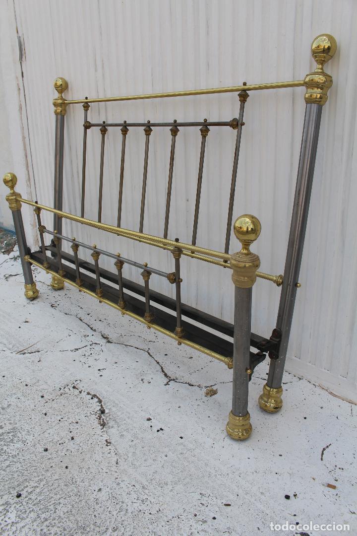 Antigüedades: cama en metal dorado - Foto 7 - 98177491