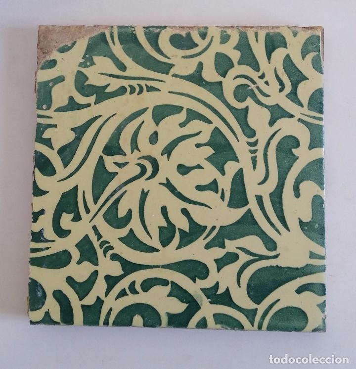Antigüedades: Antiguo azulejo modernista - valencia - Foto 2 - 98189199