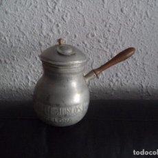 Antigüedades: BONITA CHOCOLATERA DE ALUMINIO CHOCOLATES JUNCOSA.. Lote 98195491