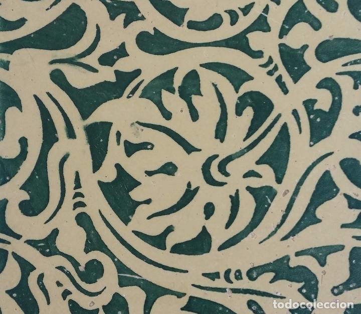 ANTIGUO AZULEJO MODERNISTA - VALENCIA (Antigüedades - Porcelanas y Cerámicas - Azulejos)