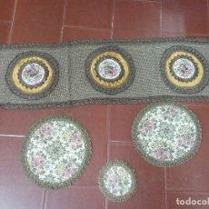 Antigüedades: LOTE DE CUATRO TAPETE TAPETES ANTIGUO . Lote 98220375