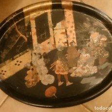 Antigüedades: BANDEJA ANTIGUA DE PAPIERMACHE S XIX. Lote 98235383