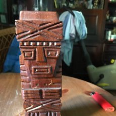 Antigüedades: SER O ÍDOLO PRECOLOMBINO MADERA CAOBA. Lote 98357186
