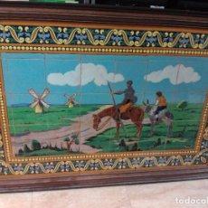 Antigüedades: GRAN MOSAICO CERÁMICO DON QUIJOTE DE LA MANCHA. Lote 98379435