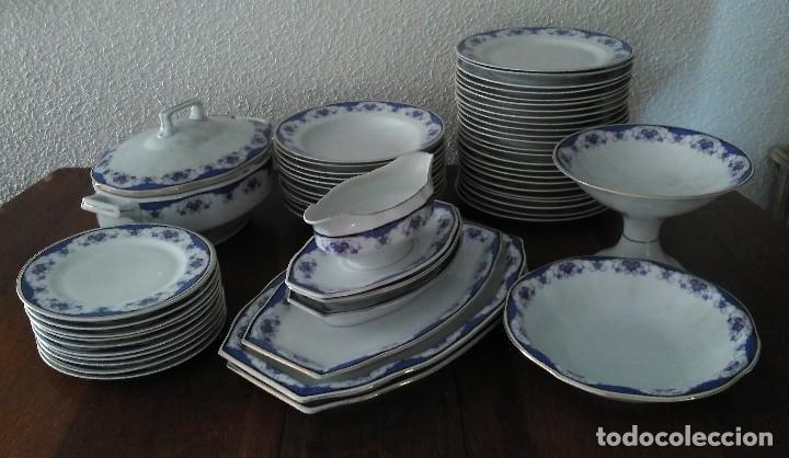 VAJILLA DE PORCELANA CHECOSLOVACA, 56 PIEZAS (Antigüedades - Porcelanas y Cerámicas - Otras)
