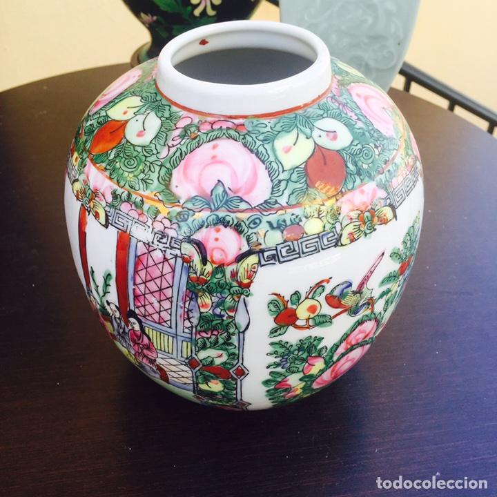 PRECIOSO JARRÓN EN PORCELANA JAPONÉS FIRMADO (Antigüedades - Porcelana y Cerámica - Japón)