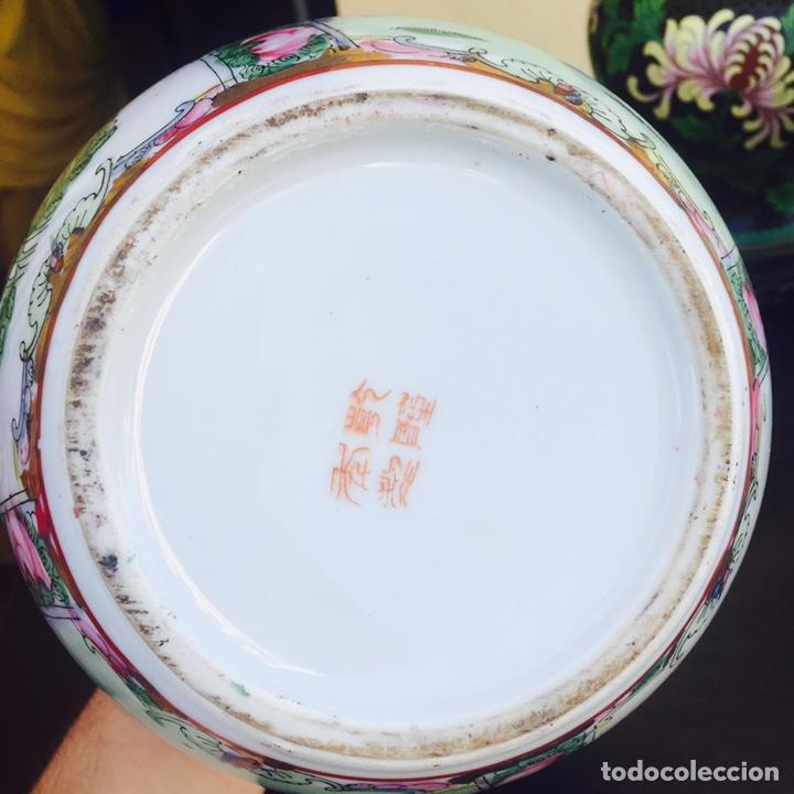 Antigüedades: Precioso jarrón en porcelana japonés firmado - Foto 2 - 98414942