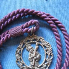 Antigüedades: SEMANA SANTA DE SEVILLA - MEDALLA CON CORDON CON IMAGEN DEL GRAN PODER. Lote 98507023
