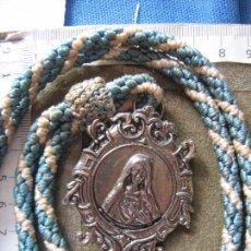 Antigüedades: TORREBLANCA - SEVILLA - MEDALLA CON CORDON HERMANDAD INMACULADO CORAZON DE MARIA . Lote 98508479