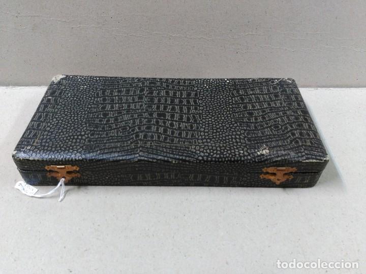 Antigüedades: CUBIERTOS DE PLATA PUNZONADA EN SU CAJA ORIGINAL SIGLO XIX - Foto 10 - 98580759