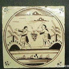 Antigüedades: AZULEJO. DELFT (HOLANDA). S. XIX. ORIGINAL¡¡¡. Lote 98580791