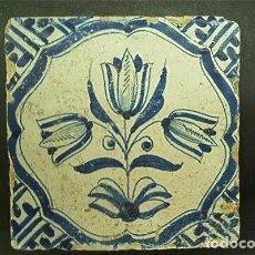 Antigüedades: AZULEJO. DELFT (HOLANDA). 1625-1650. CONSERVACIÓN EXCEPCIONAL. ORIGINAL¡¡¡. Lote 98581079