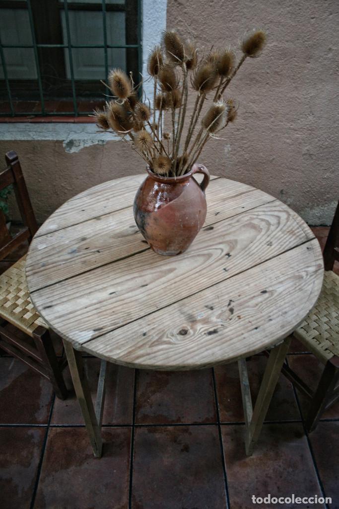 mesa de campo comedor cocina redonda plegable r - Kaufen Antike ...