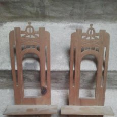 Antigüedades: BONITA PAREJA DE ANTIGUAS REPISAS O PEANAS - PRINCIPIOS DEL SIGLO XX - 49,5 CMS. ALTO. Lote 98609167