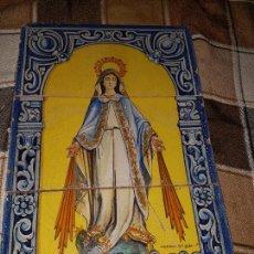 Antigüedades: RETABLO CERAMICO DE AZULEJOS.SANTA ANA. Lote 98621951