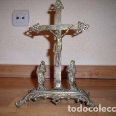 Antigüedades: CRUCIFIXIÓN DE BRONCE NEOGÓTICA. Lote 98656503