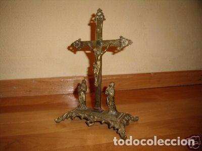 Antigüedades: Crucifixión de bronce neogótica - Foto 2 - 98656503
