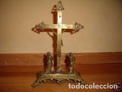 Antigüedades: Crucifixión de bronce neogótica - Foto 3 - 98656503