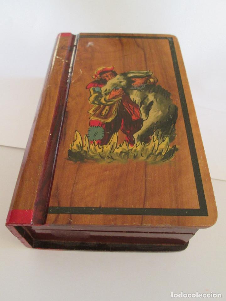 Caja De Madera Barnizada Dibujo En Tapa 19x Kaufen Antike