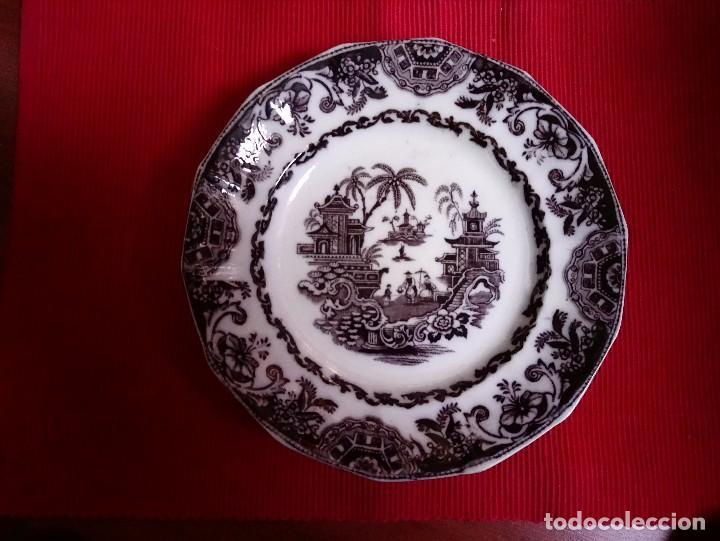 PLATO SERIE CHINA OPACA (Antigüedades - Porcelanas y Cerámicas - Sargadelos)