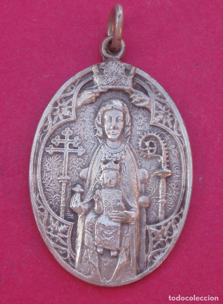 DIFÍCIL MEDALLA CORONACIÓN VIRGEN DE ESTÍBALIZ AÑO 1923 PATRONA DE ARGANDOÑA- VITORIA. ALAVA (Antigüedades - Religiosas - Medallas Antiguas)
