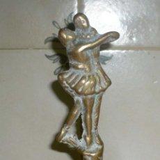 Antigüedades: ANTIGUA CAMPANILLA DE MANO EN BRONCE. Lote 98726495