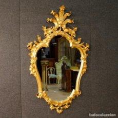 Antigüedades: ESPEJO VENECIANO EN MADERA DORADA. Lote 98742663