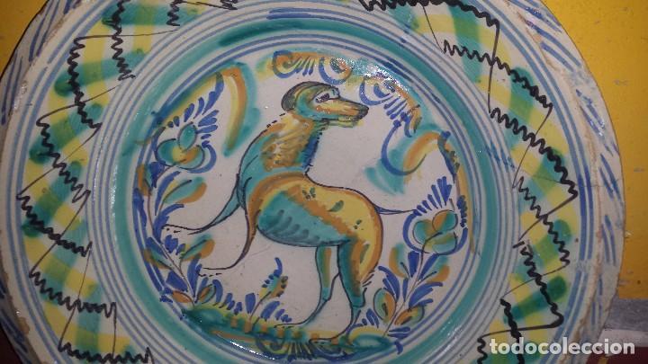 Antigüedades: antiguo lebrillo de triana , pintado a mano - Foto 2 - 98743491