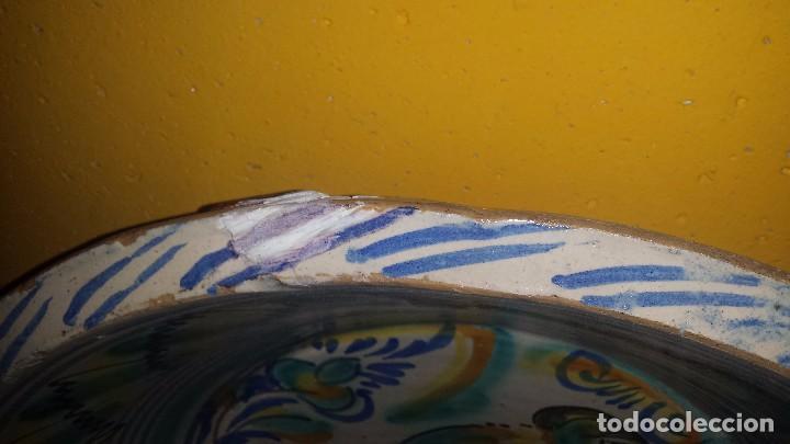 Antigüedades: antiguo lebrillo de triana , pintado a mano - Foto 3 - 98743491