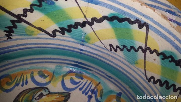 Antigüedades: antiguo lebrillo de triana , pintado a mano - Foto 4 - 98743491