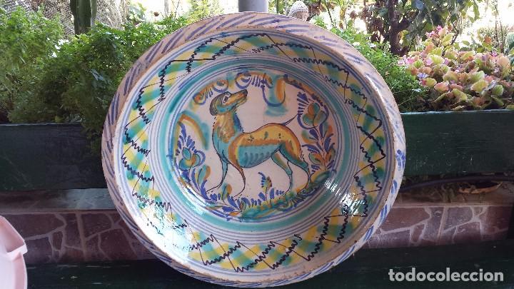 Antigüedades: antiguo lebrillo de triana , pintado a mano - Foto 8 - 98743491